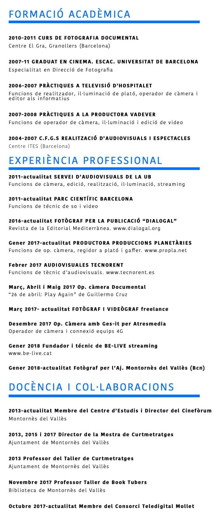 Currículum Vitae – Juanjo Bermejo